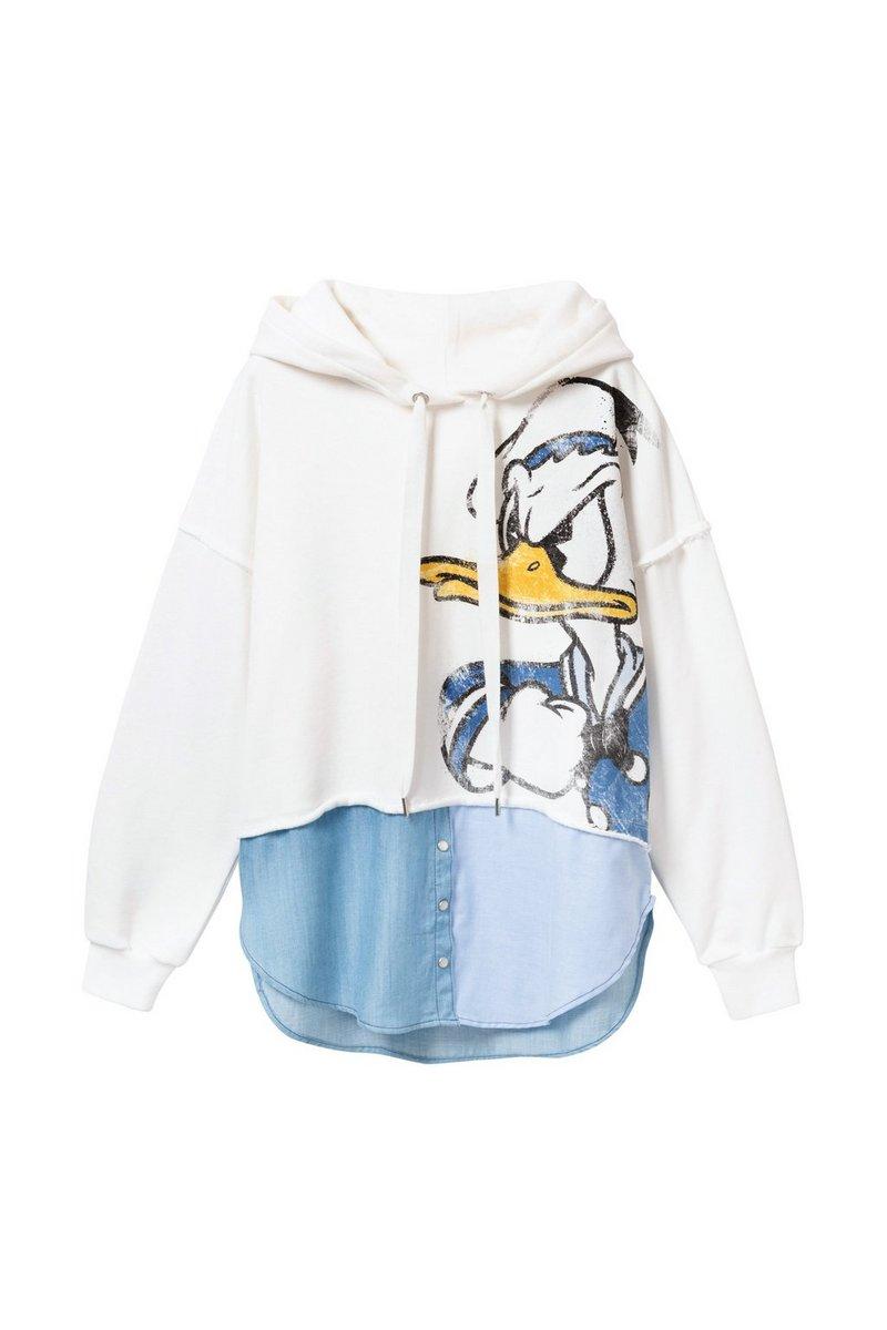 Desigual Damen Weisses Donald Duck Loose Fit Sweatshirt Sweat Donald Fashion Damenmode Frauenmode Styleinspiration Shirts D Mode Frauenmode Damenoberteile