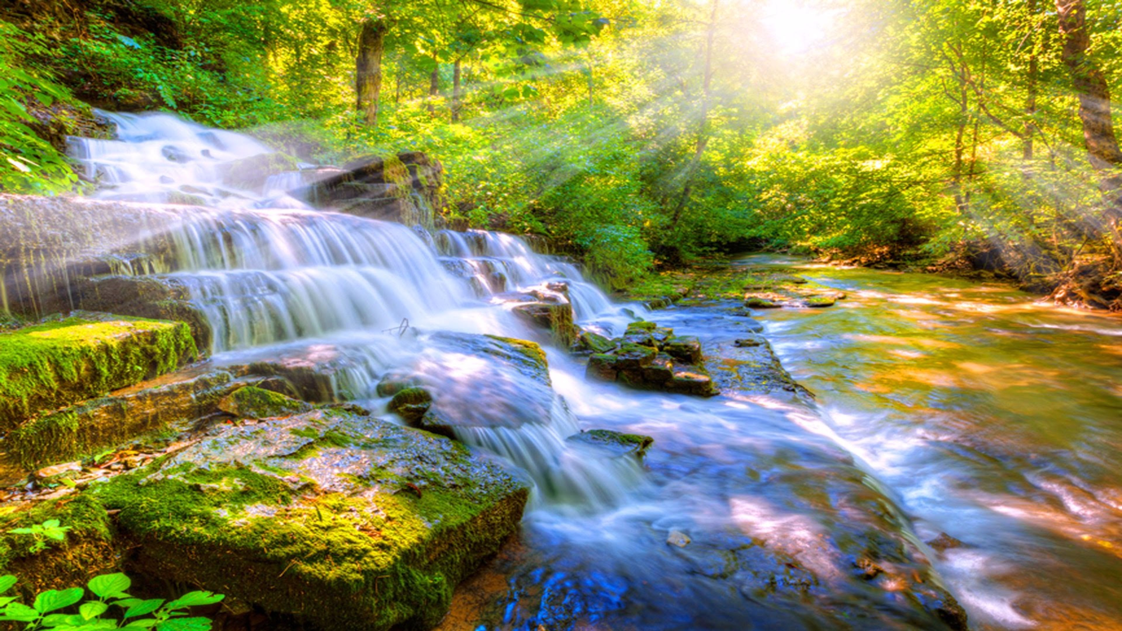Waterfall Nature 4k Wallpaper Nature Sounds Nature Meditation