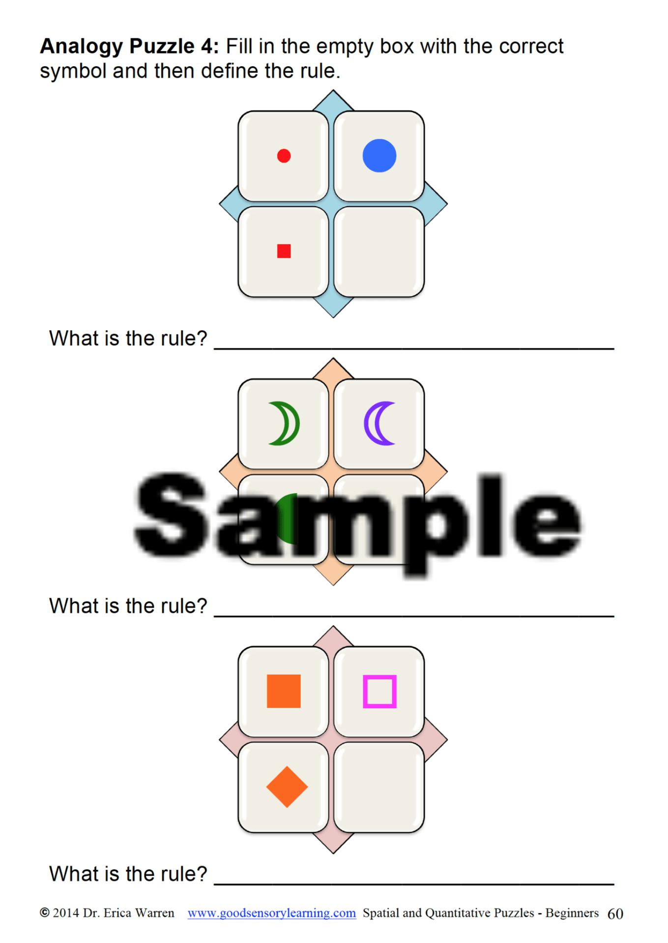Quantitative And Spatial Puzzles Good Sensory Learning Multisensory Teaching Teachers Learning Multisensory [ 1920 x 1359 Pixel ]