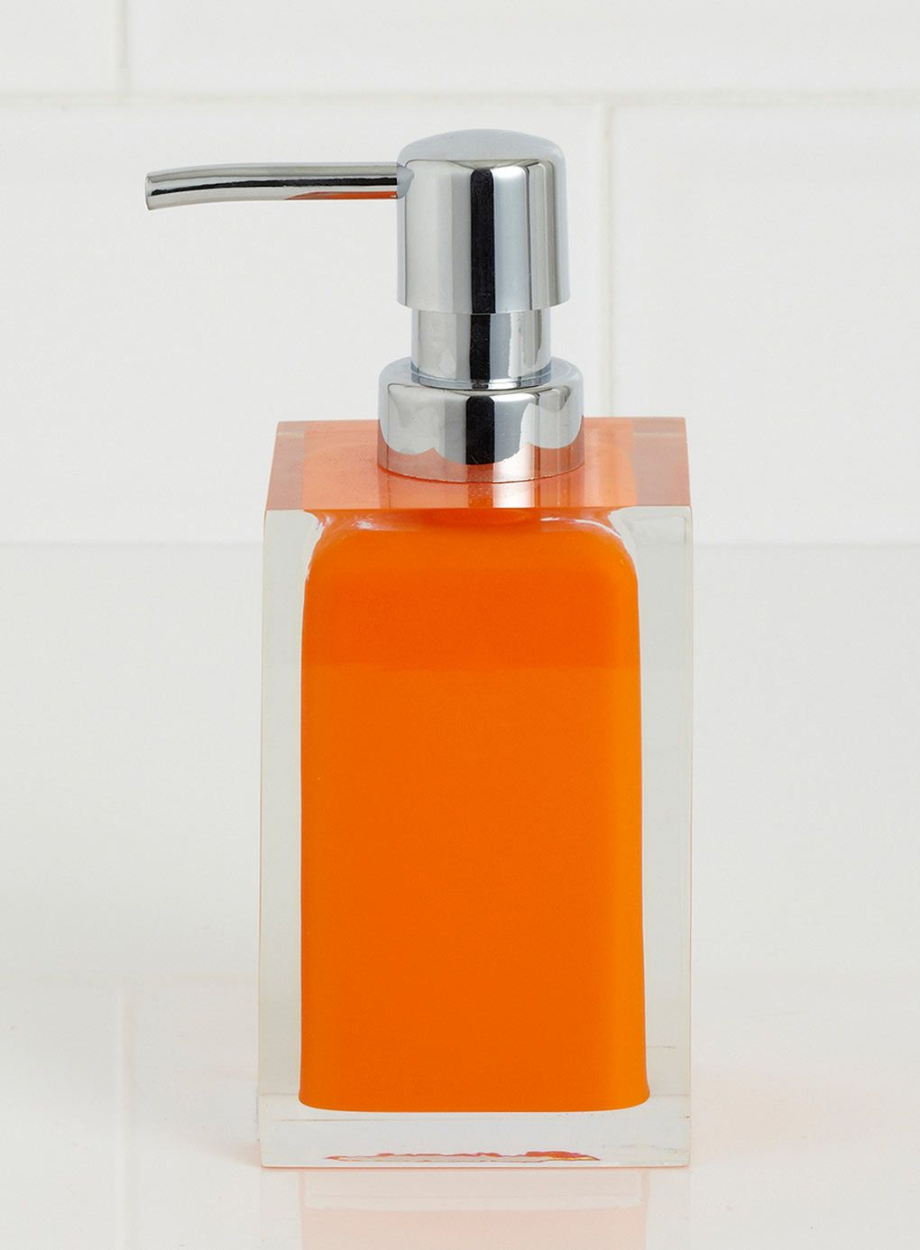 Plastic bathroom accessories uk - Bright Orange Square Resin Soap Dispenser Bathroom Accessories Home Lighting Furniture