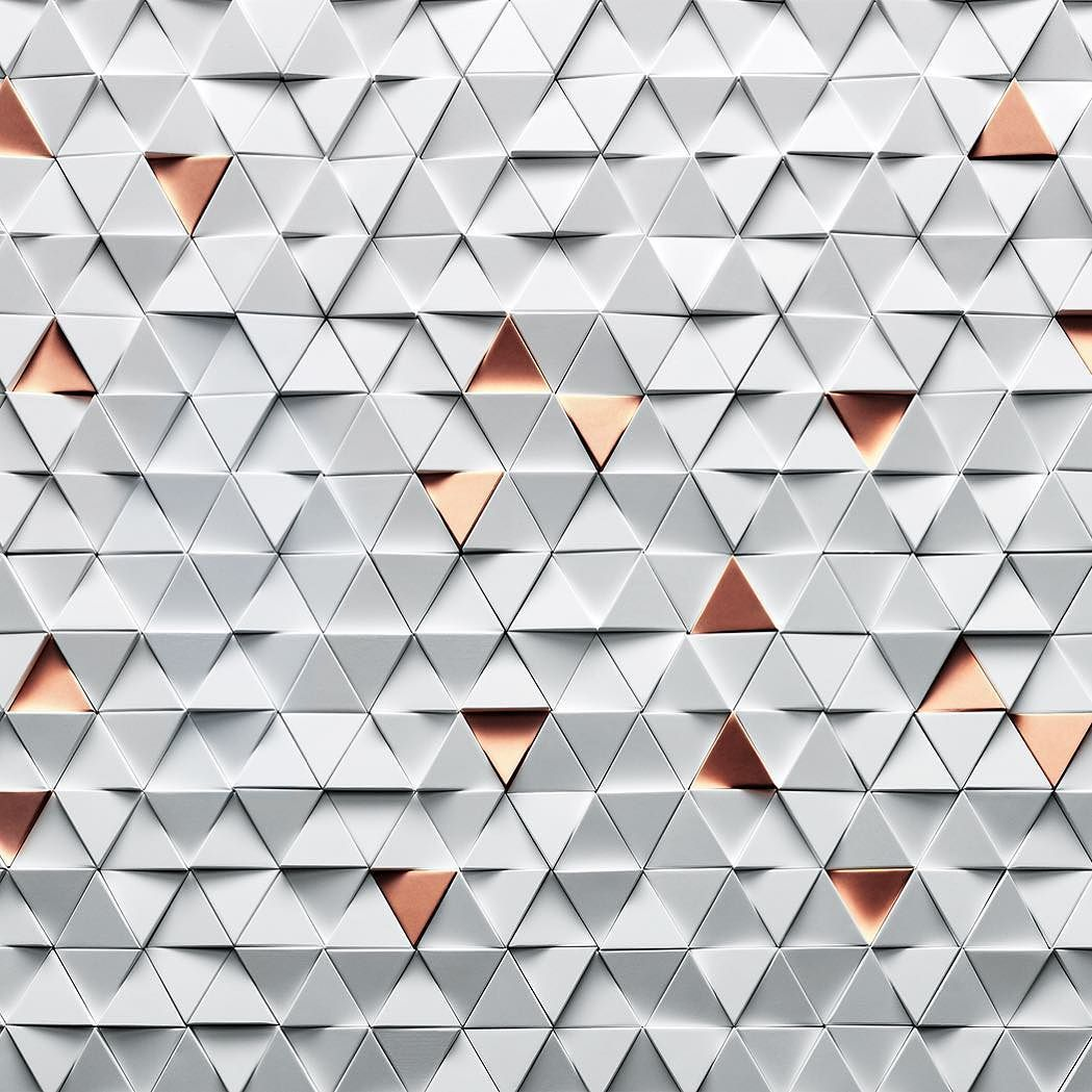 Early Concept Visual With Plusminusvision And Omega Triangles Copper White Surface Texture Vm Wall Texture Types Ceiling Texture Ceiling Texture Types