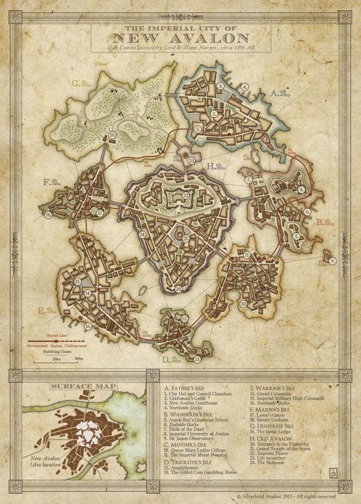 Avalon Karte