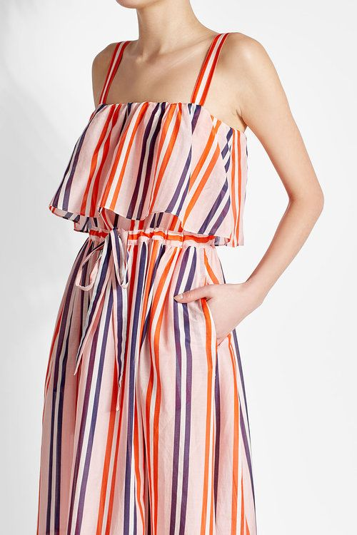 Striped silk cover-up Diane Von F Buy Cheap Online Shipping Discount Authentic Genuine For Sale Shopping Online Original 7r2qCdkM1v
