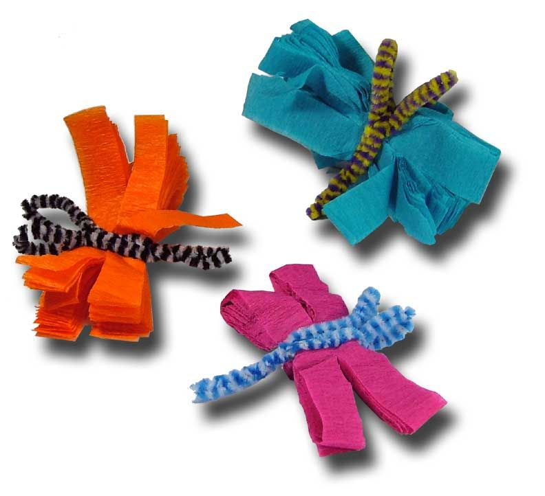 Superior Crepe Paper Crafts For Kids Part - 2: Paper Crafts | Crepe Paper Comes In Fabulous Colors, And So Do These  Dragonflies.