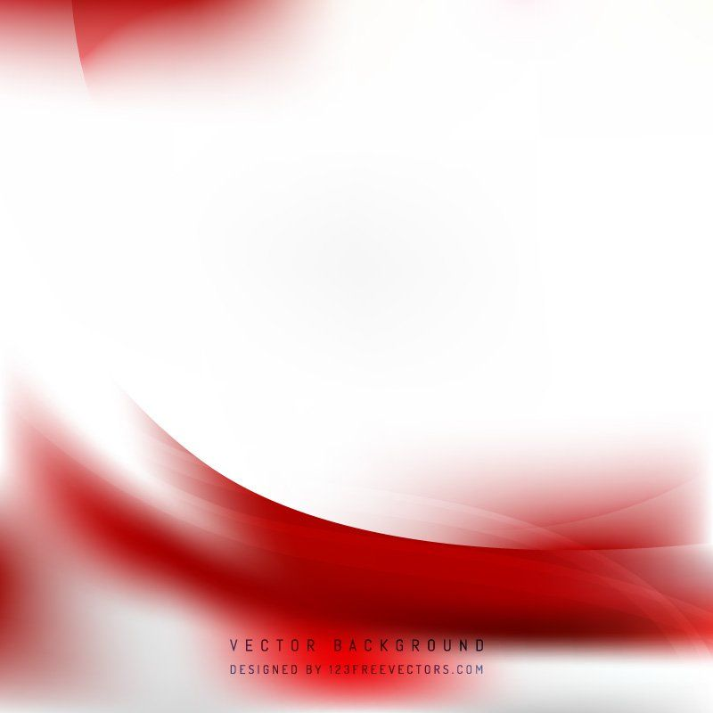Abstract Red White Wave Background Template White Background