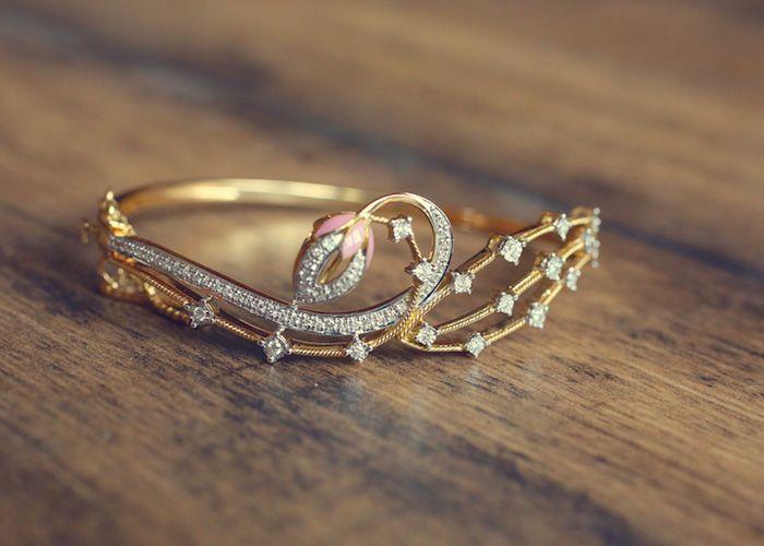 tanishq, zyra collection, lotus, bracelet · Diamond JewelleryDiamond ...