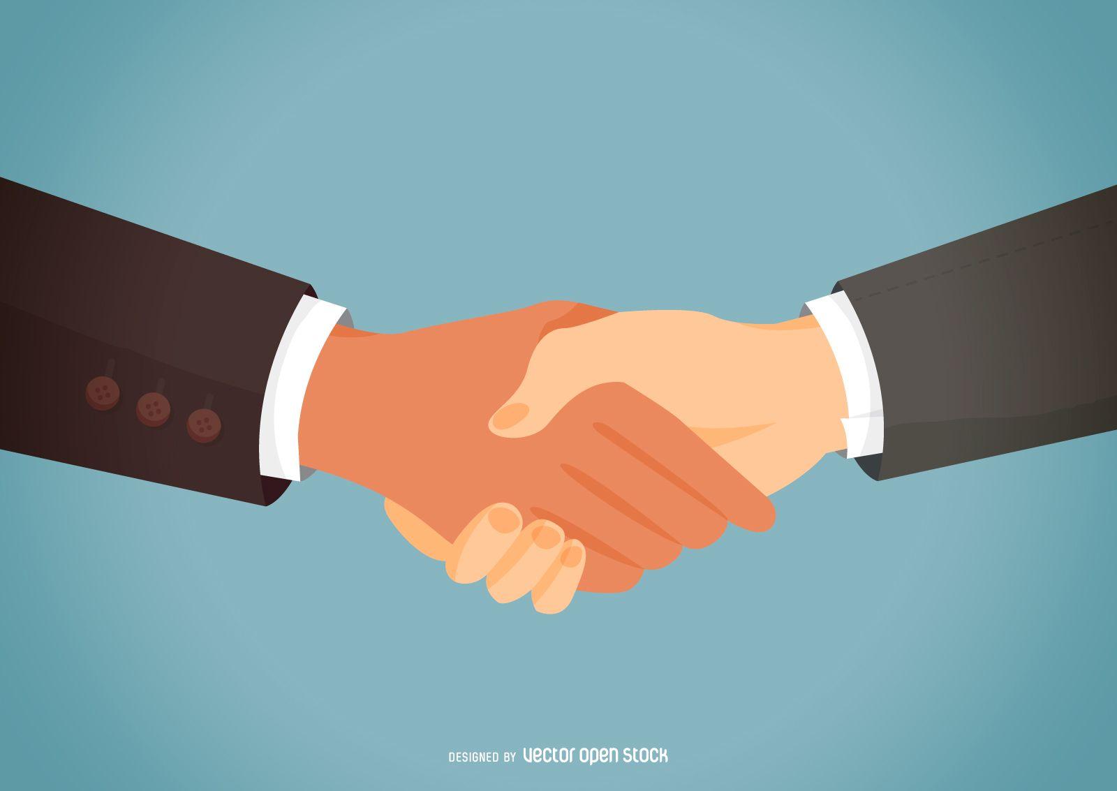 Partner Handshake Flat Illustration Free Vector Flat Illustration Illustration Design Illustration