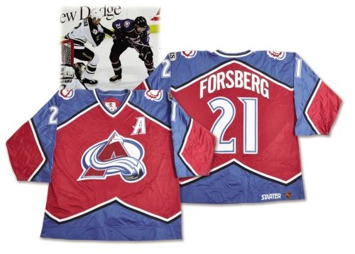 Peter Forsberg 1998-99 Colorado Avalanche Alternate Captain s Game-Worn  Playoffs Jersey 18e5251bfb0