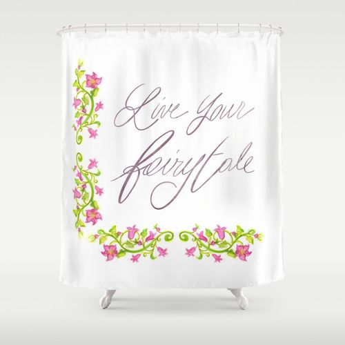 Live your fairytale - Shower Curtain by Psychae | Society6