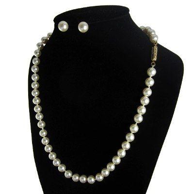 4a5fe9749c2c Collar Perlas Mallorca Bijoux Mujer Aretes Pulsera Chapa Oro ...