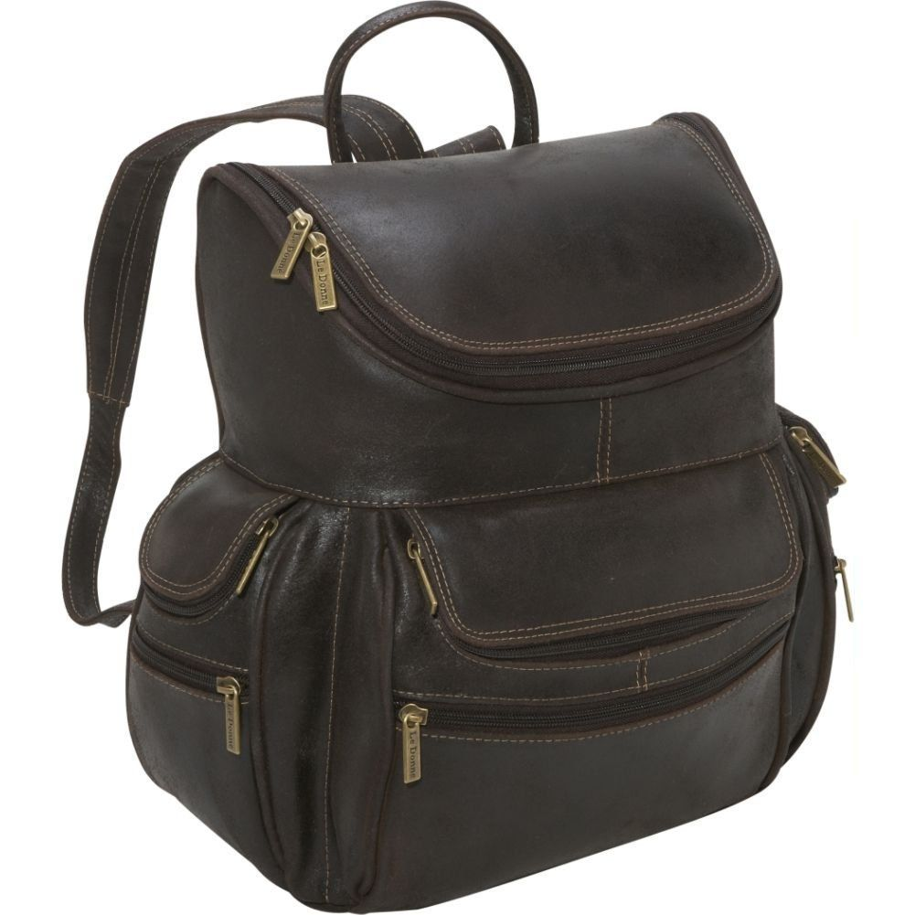 Le Donne Distressed Leather Laptop Backpack, Computer Bag in ...