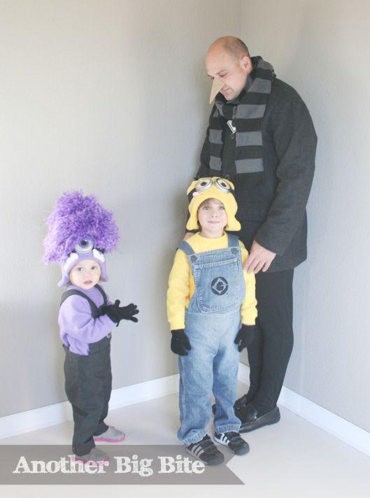 Nose Instruction:  Another Big Bite - Despicable Me Gru & Minion & Purple Minion Costume