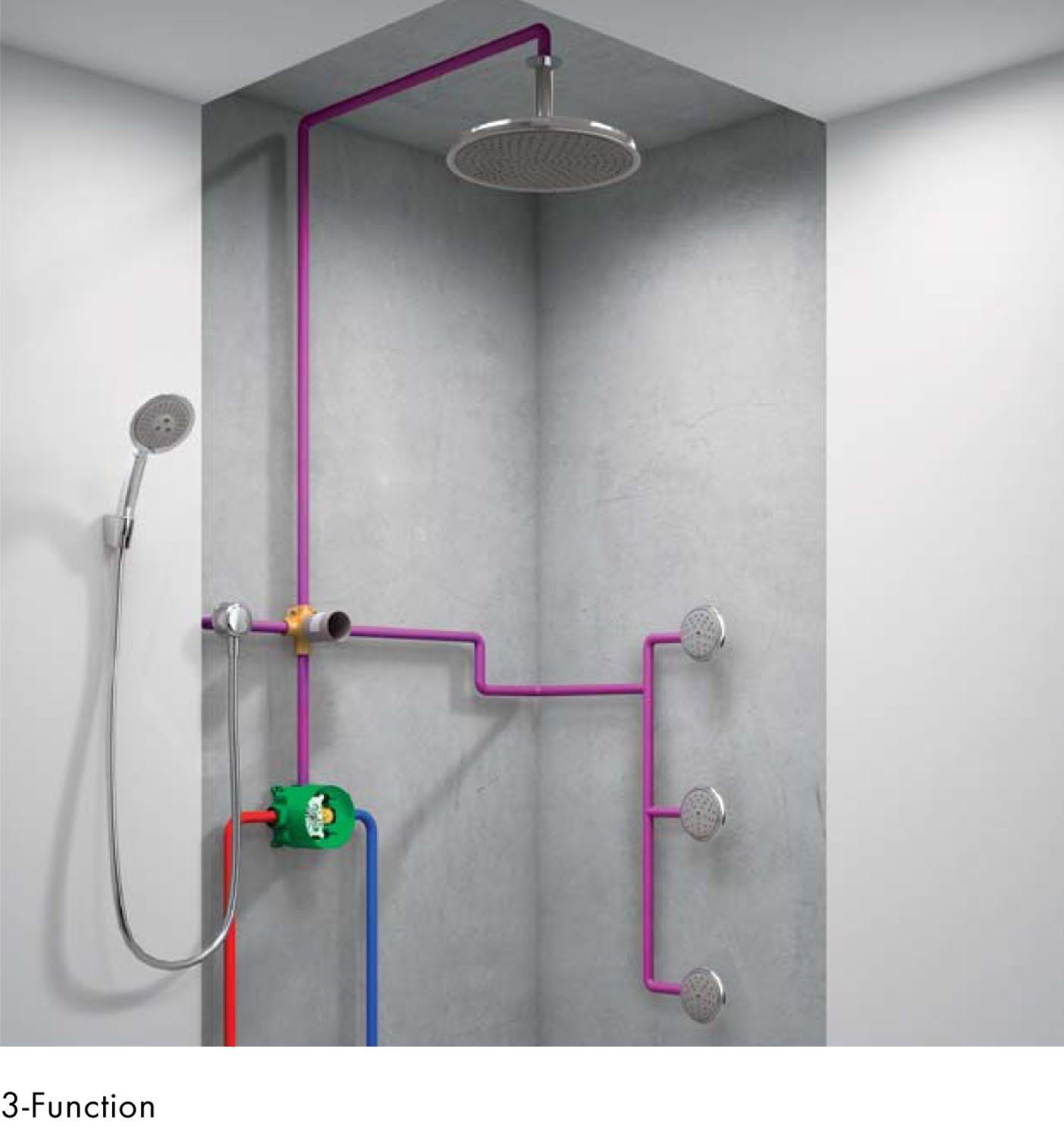 hansgrohe shower head rain shower massage diverter bathroom pinterest rain shower. Black Bedroom Furniture Sets. Home Design Ideas