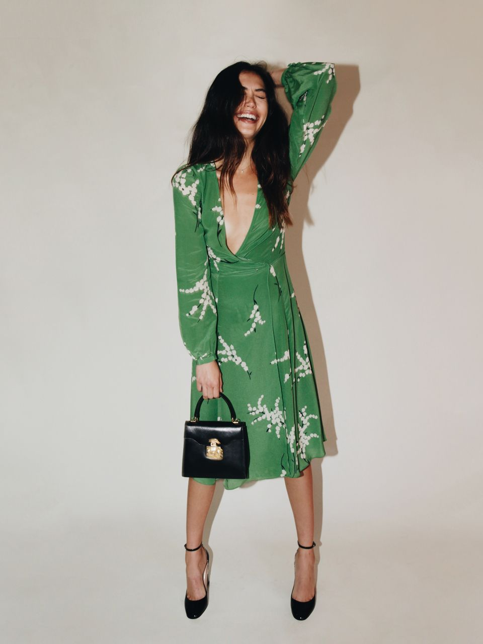 428cb106373 I always love a good wrap dress. Kinda wish this was shorter but also love  the statement it makes. Pretty! The Violette - Summer Loving Green ...