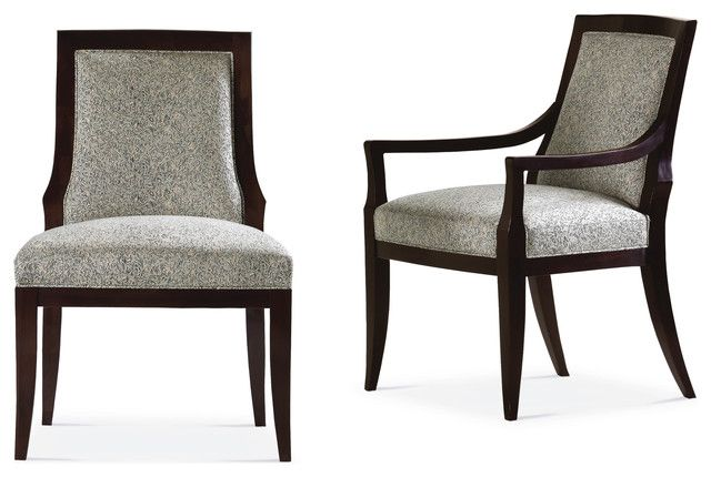Arm Chair Dining Room Stunning Baker Style Dining Chair  House  Pinterest  Upholstered Dining Decorating Inspiration
