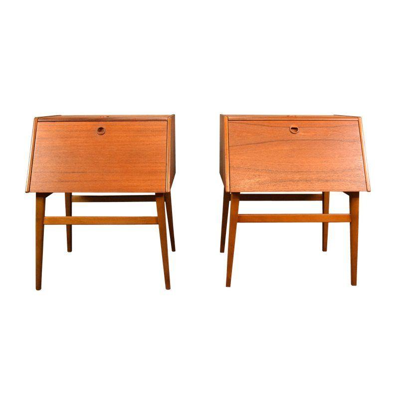 1960s Scandinavian Modern Teak Night Stands A Pair Modern Scandinavian Furniture Scandinavian Furniture Scandinavian Dining Room