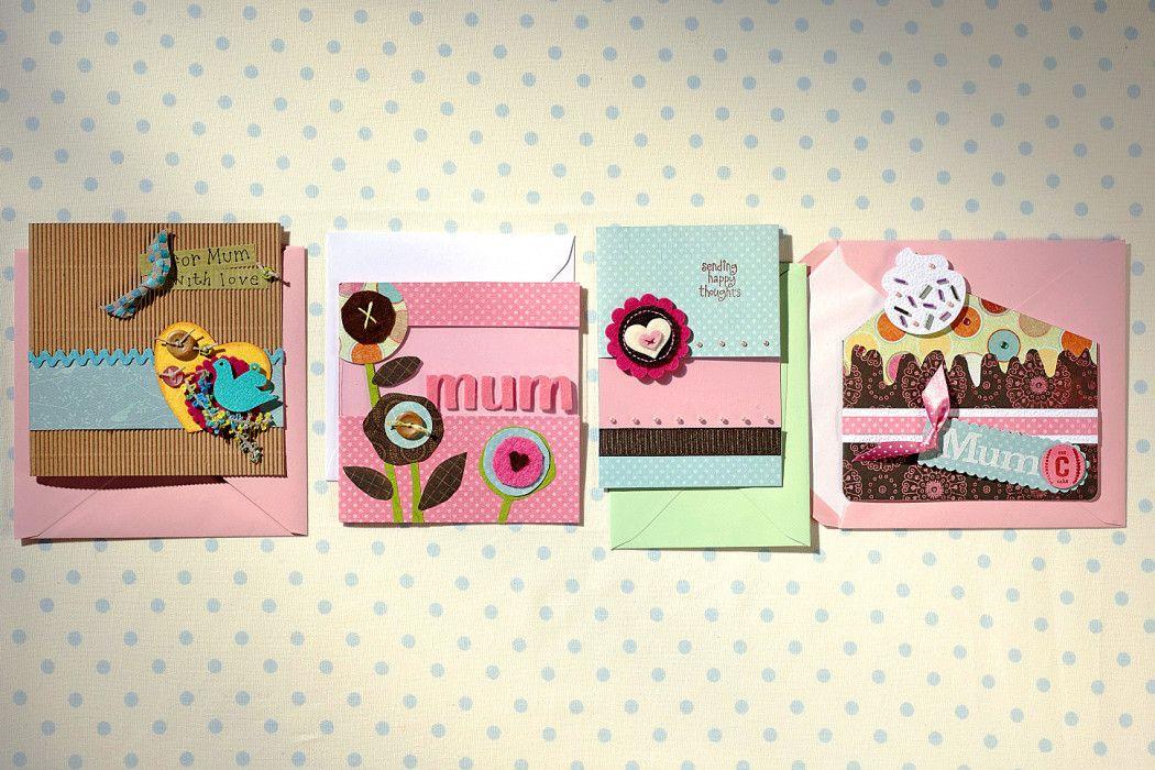30 Mothers Day Card Ideas #mothersdaycards #easymothersdaycrads #mothersdayinspiration #hobbycraft