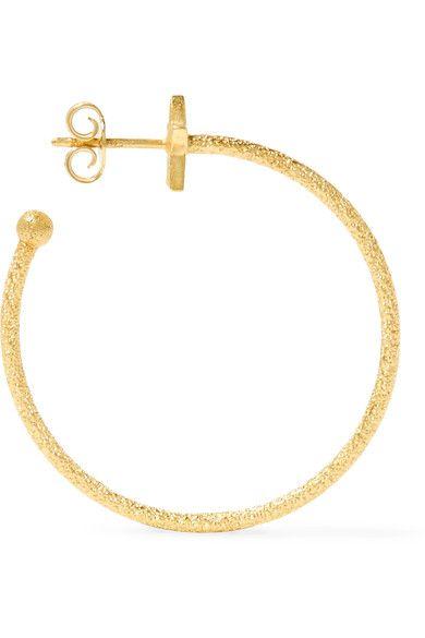 Carolina Bucci Shooting Star 18-karat Gold Diamond Hoop Earrings bSZQ62p