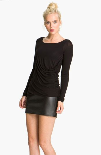 Bailey 44 'Drop Out' Faux Leather Trim Dress available at #Nordstrom