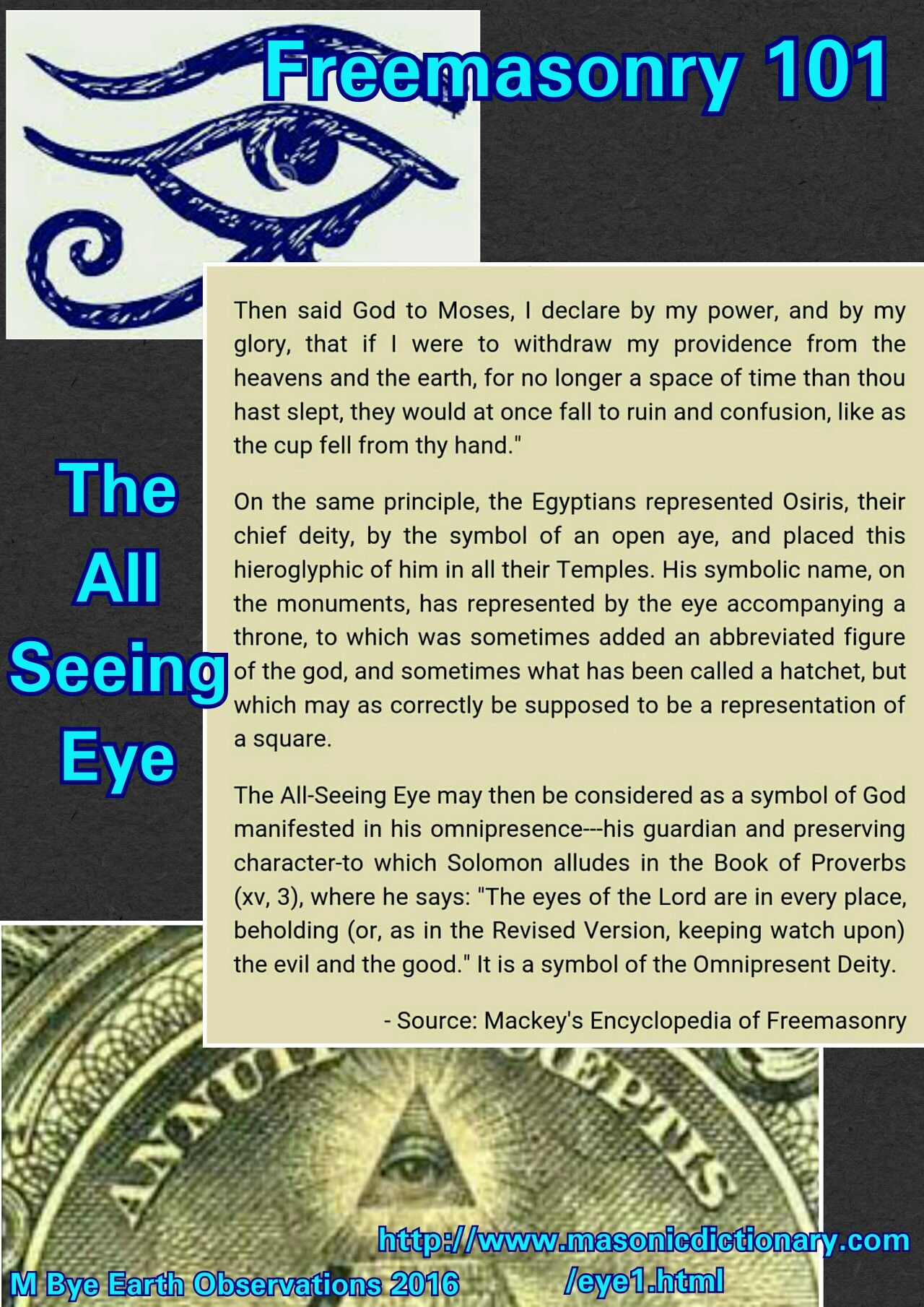 Freemasonry 101 the all seeing eye esoteric pinterest freemasonry 101 the all seeing eye buycottarizona Image collections