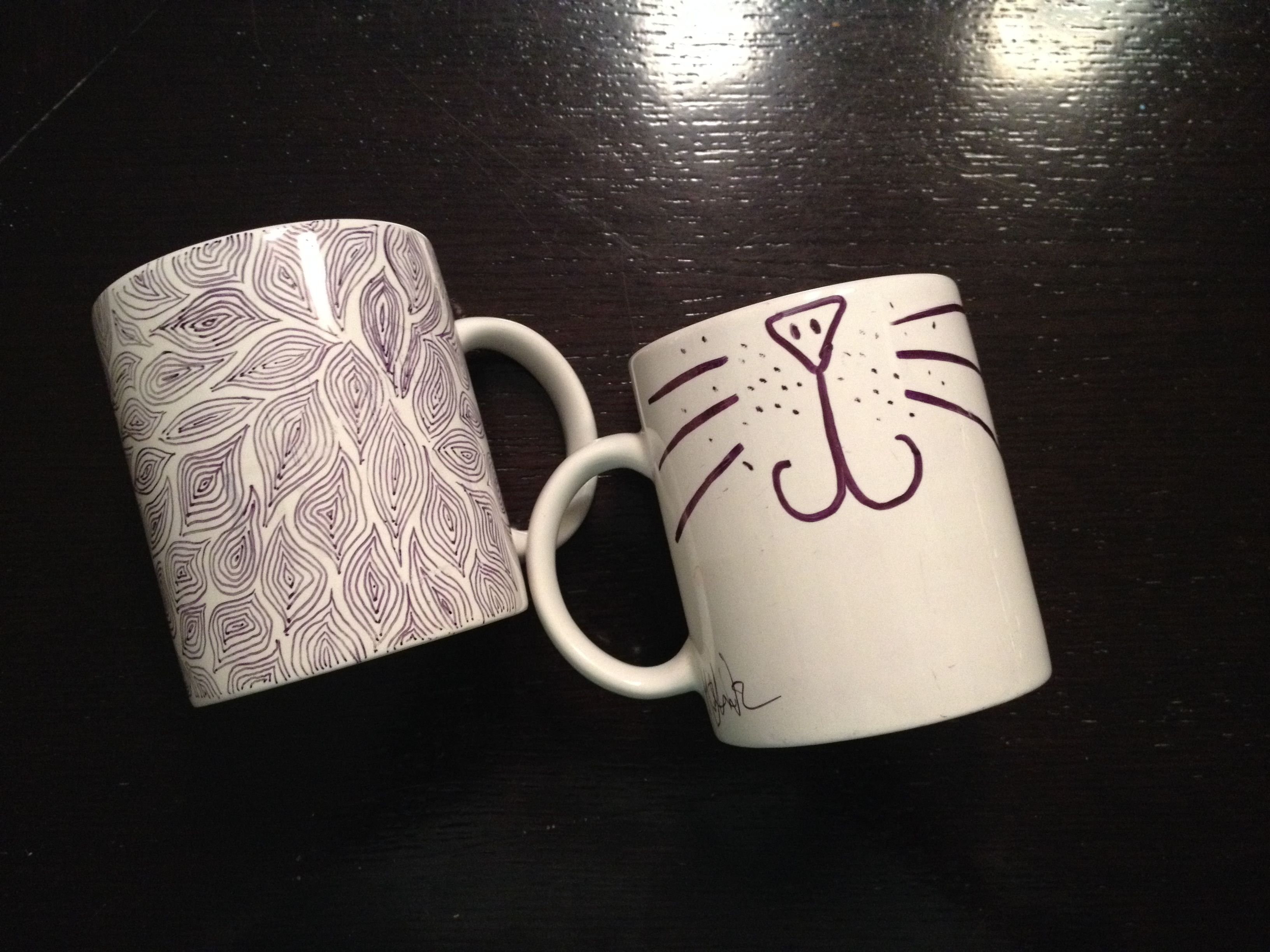 Cute Mugs Sharpie i made this… sharpie mug | sharpie projects and project ideas