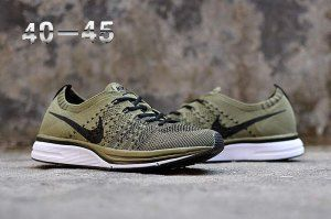 0371caf75149 Mens Nike Air Zoom Mariah Flyknit Racer Running Shoes Olive Green Black  White