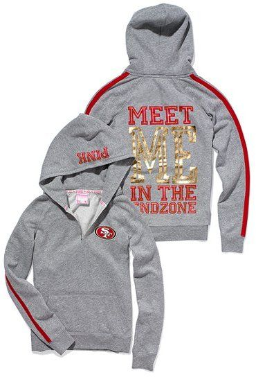 wholesale dealer bba38 3eb1c Victoria's Secret Pink® San Francisco 49ers Pullover Hoodie ...