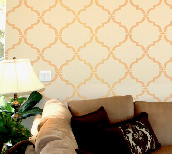 Wall Stencil Moroccan Allower Pattern Wall Room Decor Made by OMG ...