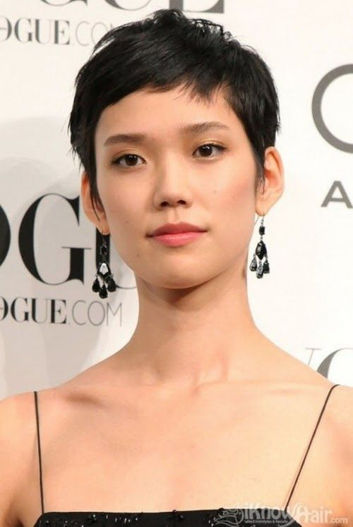 Short Crop Hairstyles 2014 Cheveux courts asiatique