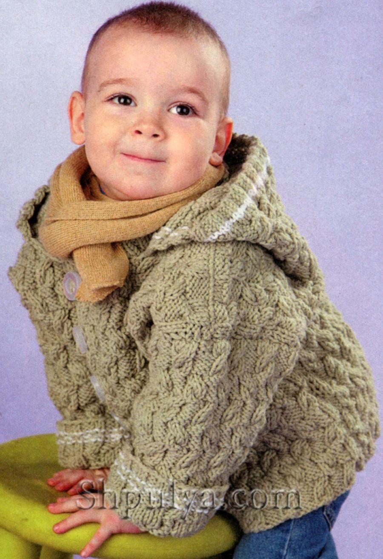 пальто с капюшоном вязаное схема узора