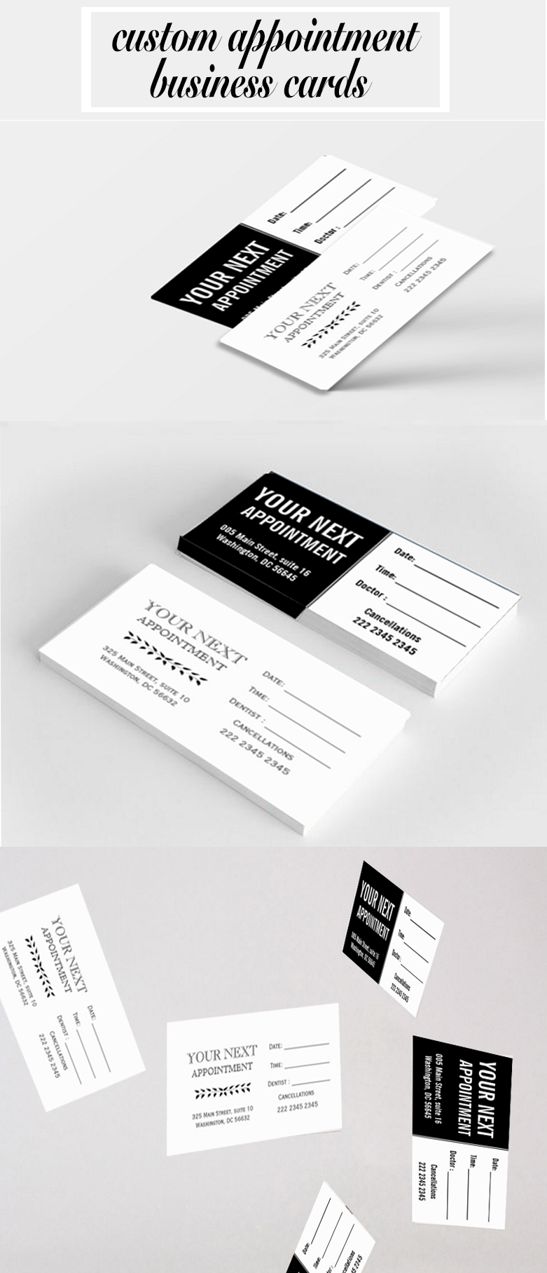 Custom appointment business card design with black and white and custom appointment business card design with black and white and white with black handmade drawing magicingreecefo Gallery