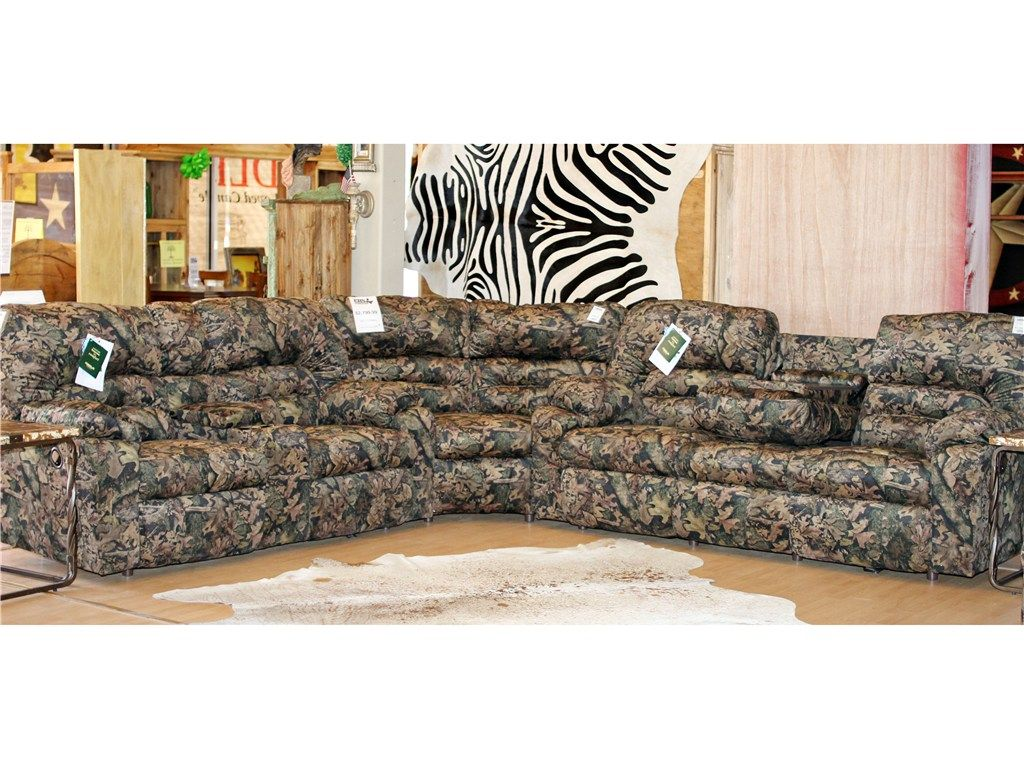 Franklin Living Room Dakota Camouflage Reclining Sectional