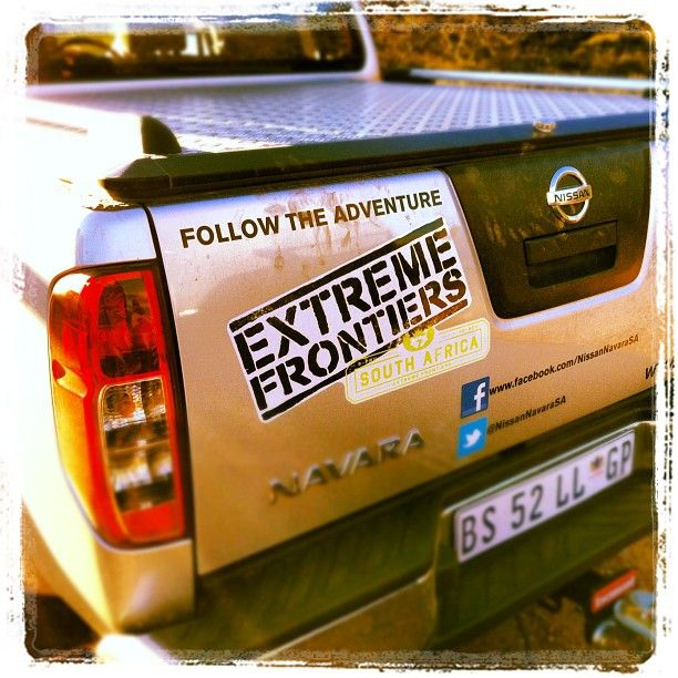 Support vehicle extreme frontiers south africa nissan southafrica nissanbumper stickerssouth