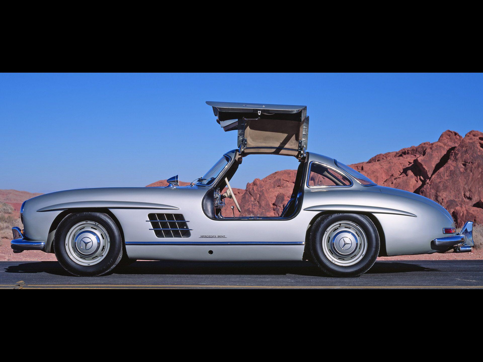 1954 1957 Mercedes Benz 300sl Gullwing Coupe Side Open Door 1920x1440 Wallpaper Mercedes Benz 300 Mercedes 300 Mercedes Benz 300 Sl Gullwing