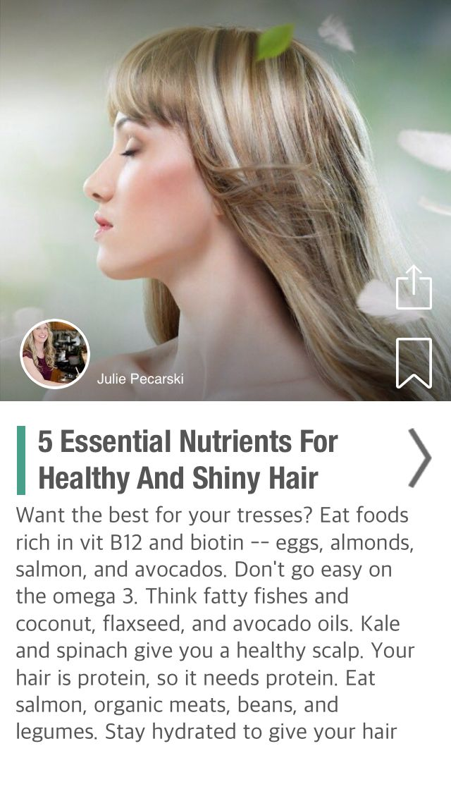 5 Essential Nutrients For Healthy And Shiny Hair - via @CureJoy