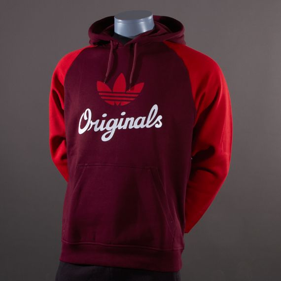 adidas hoodie mens. adidas originals trefoil hoodie - mens select clothing light maroon-university red t