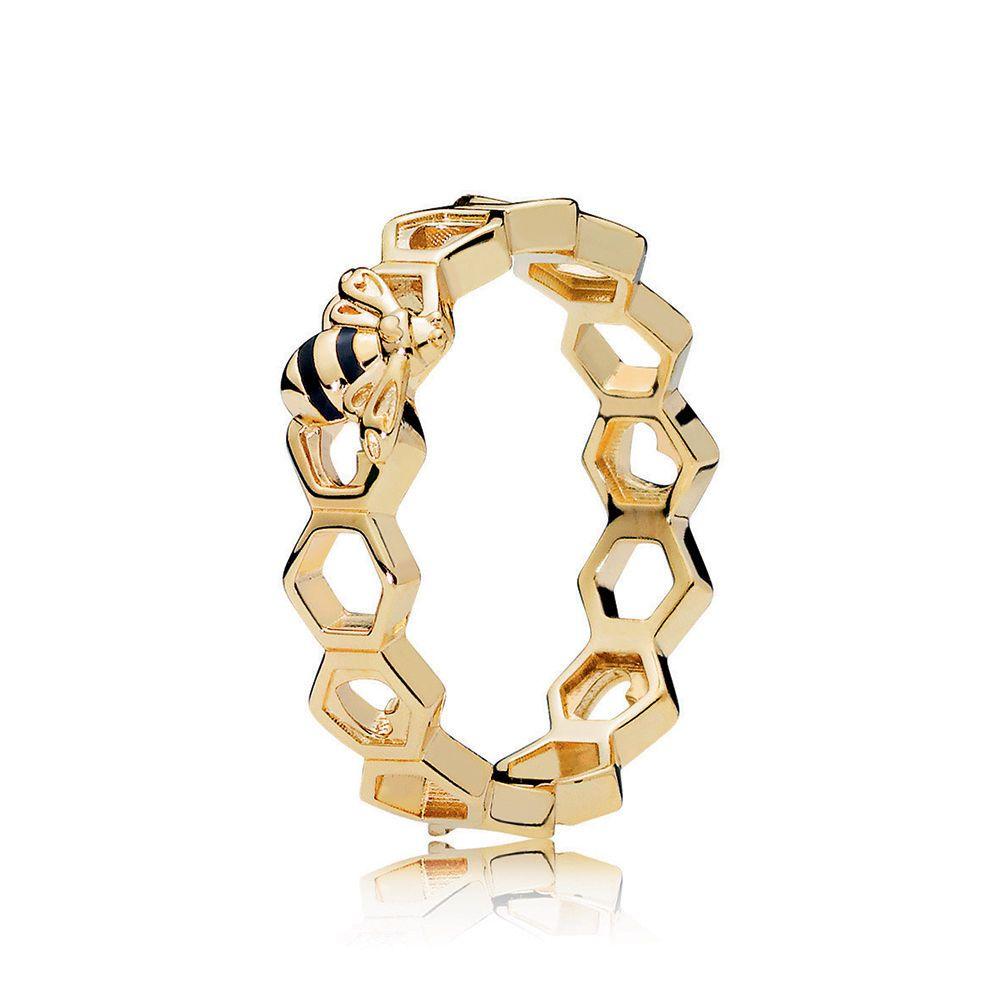 f2aaced0b Limited Edition PANDORA Honeybee Ring, PANDORA Shine™ & Black Enamel ...
