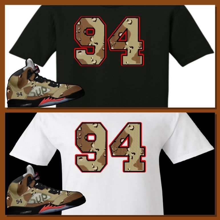 0be4d3897310 EXCLUSIVE TEE SHIRT TO MATCH THE SUPREME AIR JORDAN 5 COLLAB CAMO S! CAMO 94   COPEMCUSTOMS  GraphicTee