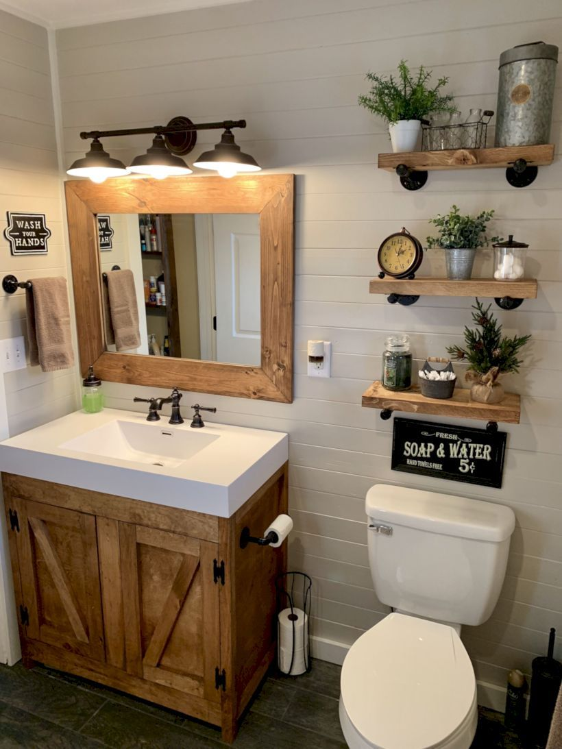 Awesome 48 Delicate Bathroom Design Ideas For Small Apartment On A Budget More At Https Deco Farmhouse Bathroom Decor Small Bathroom Remodel Bathroom Design