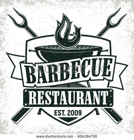 Vintage barbecue restaurant logo design f77622ddacd