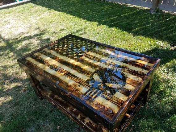 American Flag Coffee Table American Flag Wood Woodworking