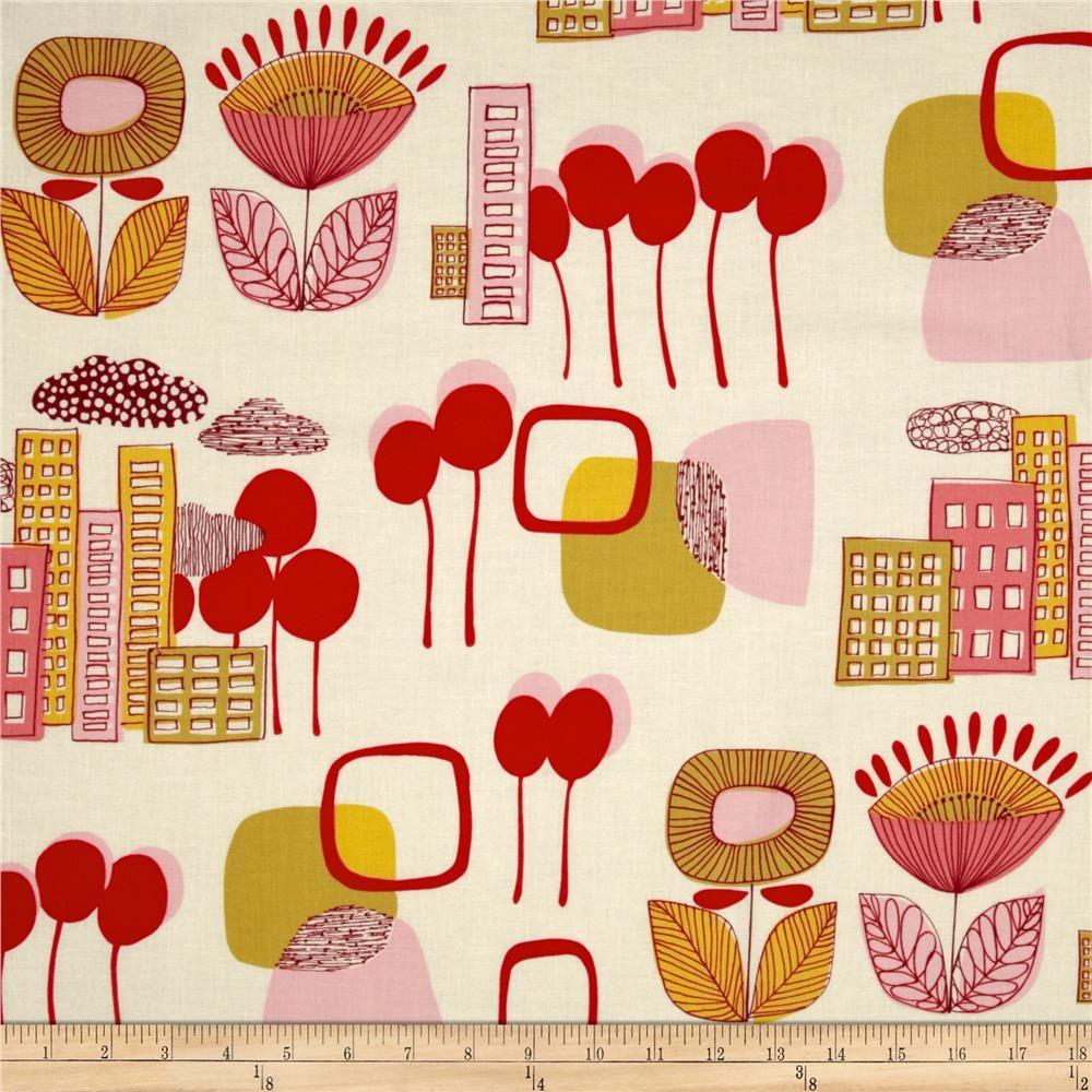 Alexander Henry Mecca for Modern Mercer Natural/Pink -- $9.20/yard