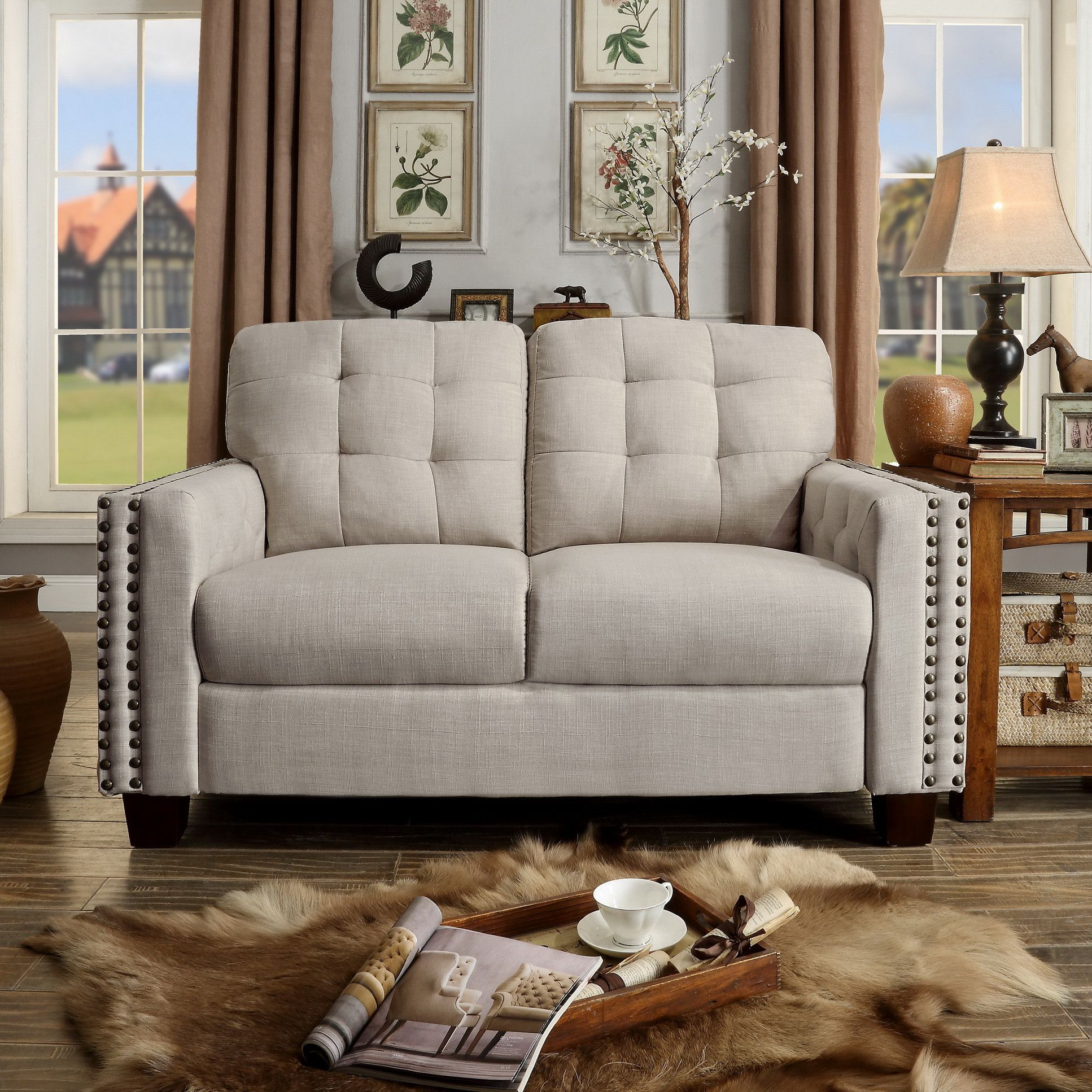 Customer Image Zoomed   Furniture, Love seat, Tufted loveseat