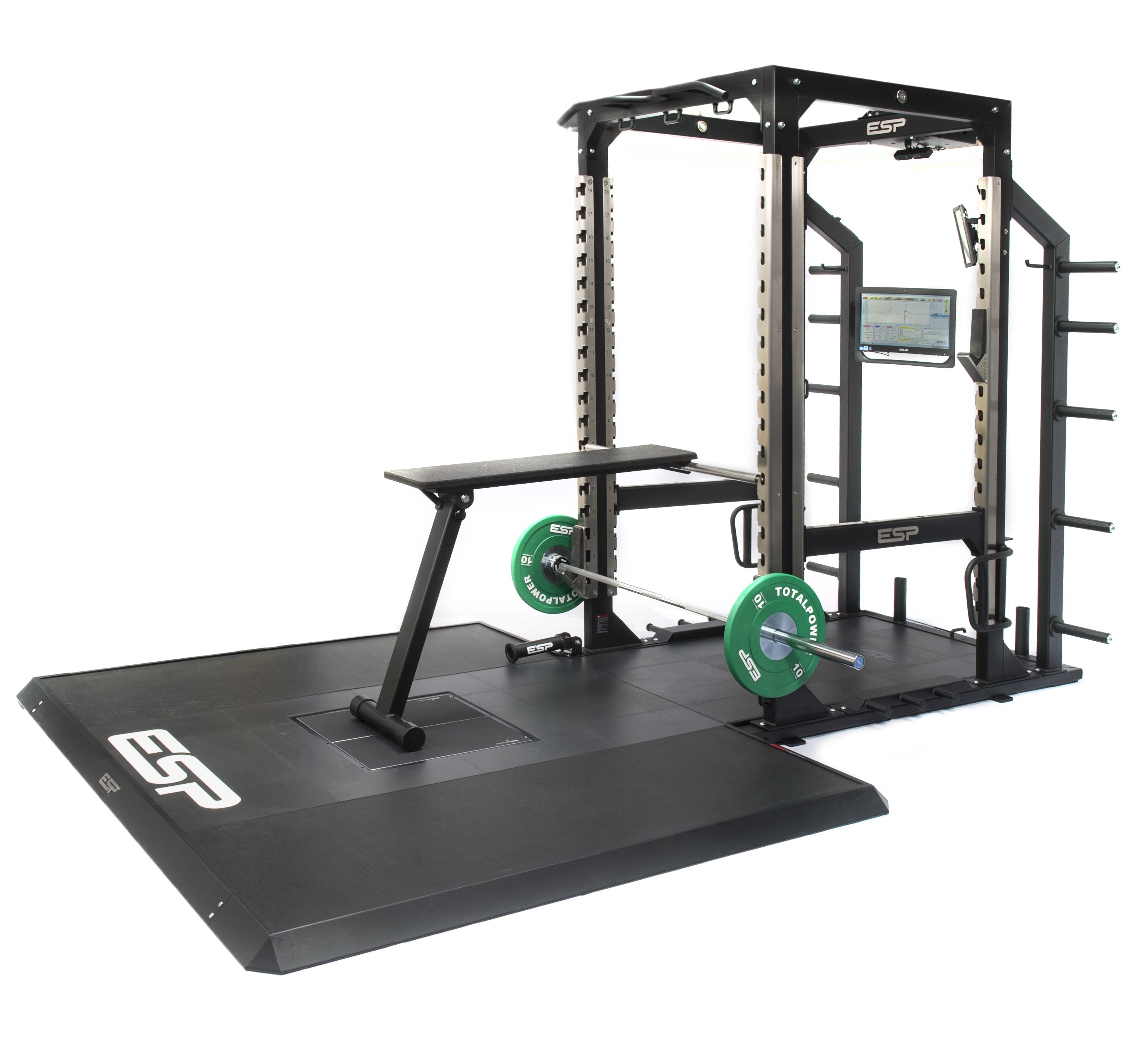 Esp fitness power bench prone row bench compact