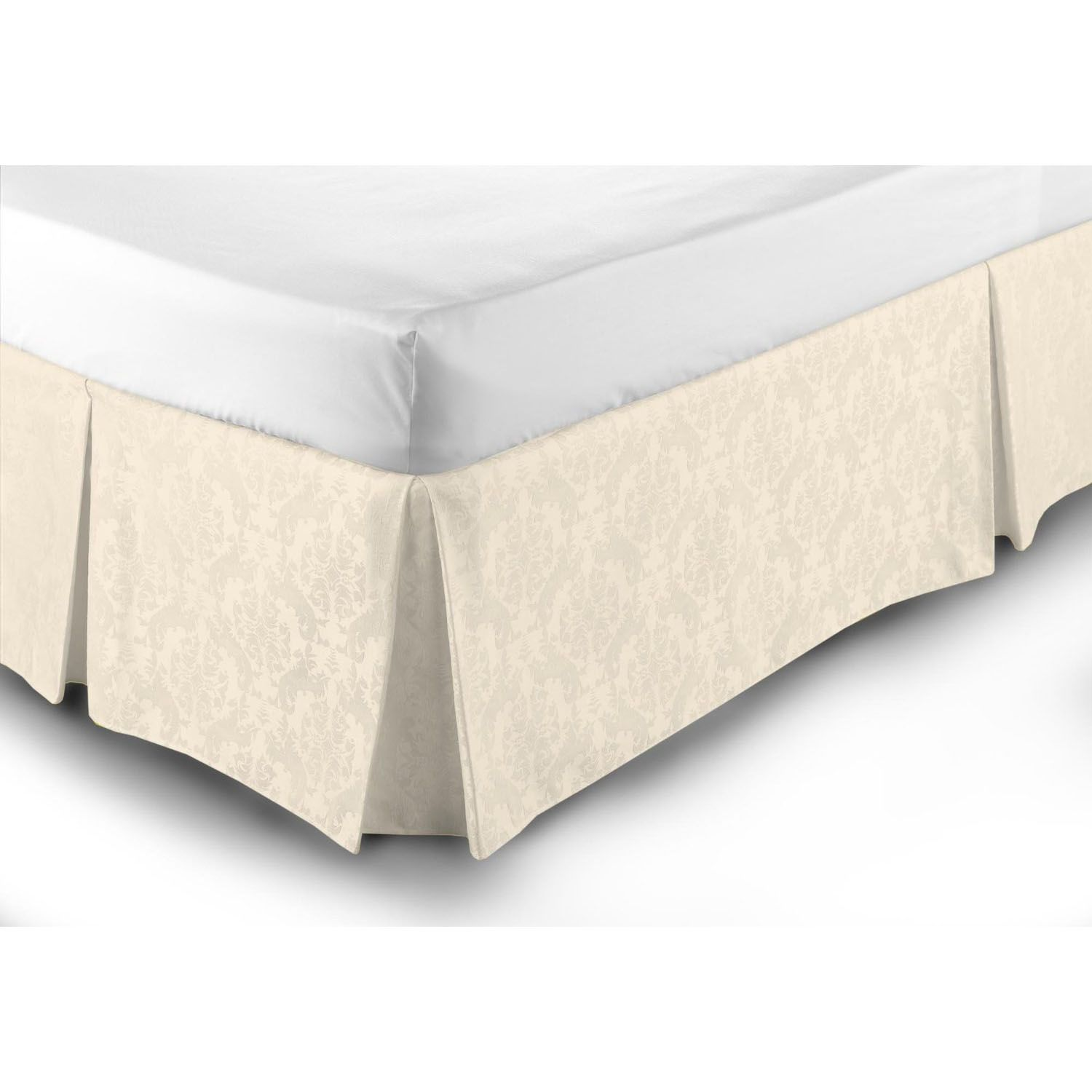 Belledorm 150tc easycare fitted damask valance sheet in