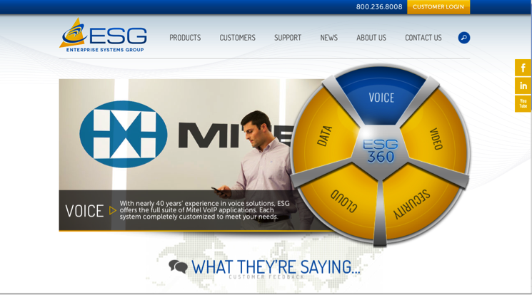 Congratulations to Enterprise Systems Group on its new custom website!