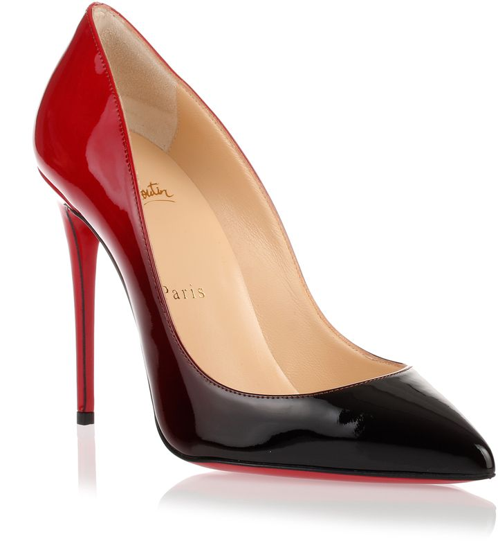 christian louboutin pigalle follies 100 red degrade pump