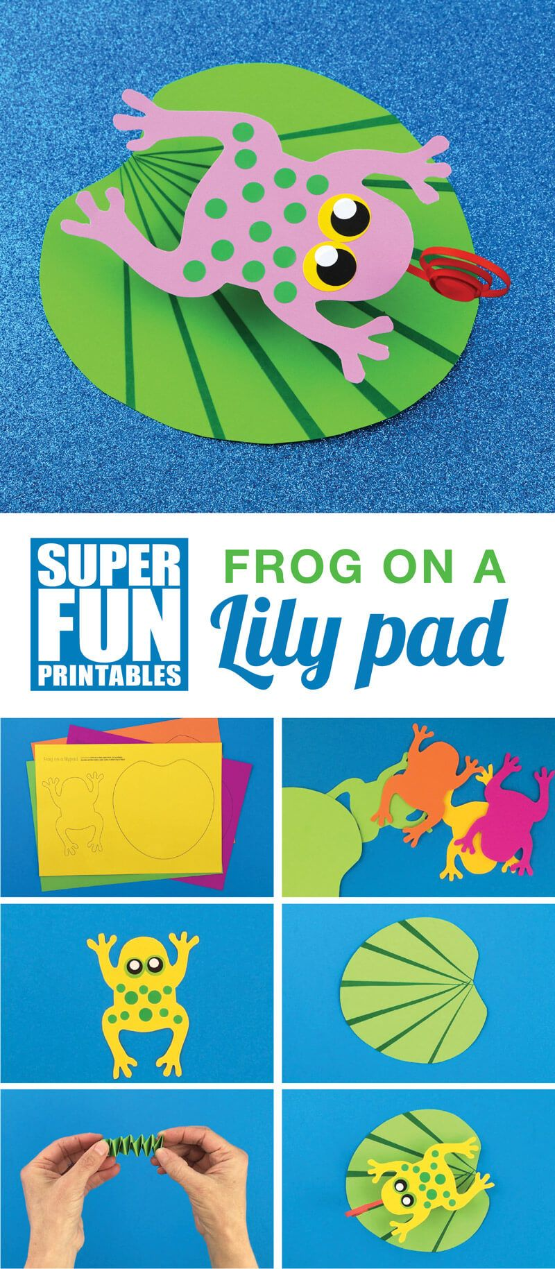 Frog on a Lily Pad #craftsforkids