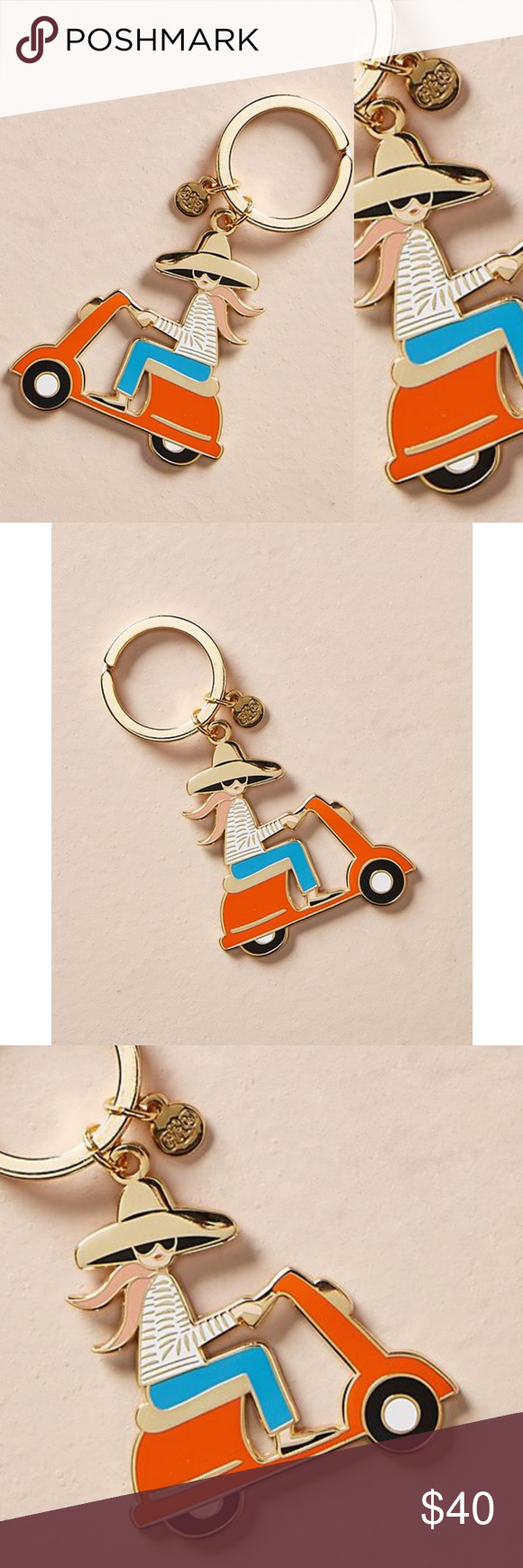 Rifle Paper Co Keychain Scooter