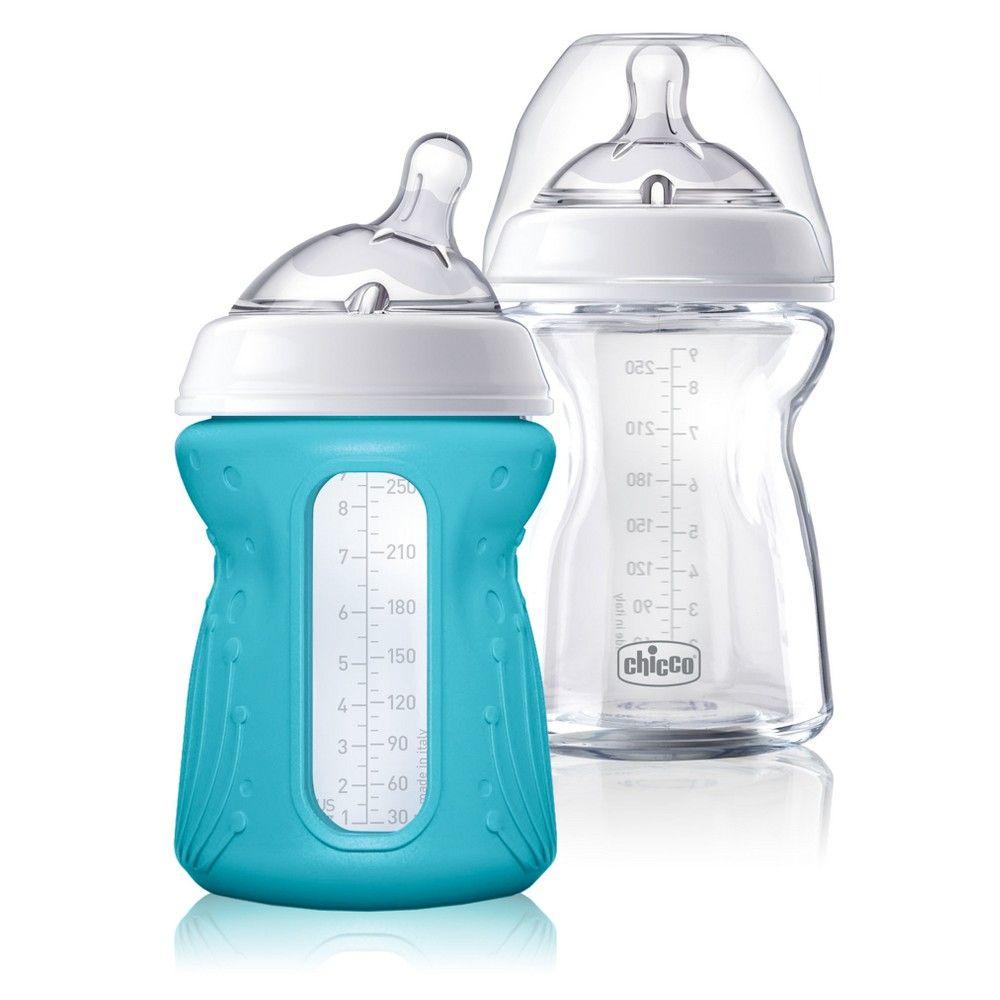 Chicco naturalfit glass bottle 0m slow flow with bonus